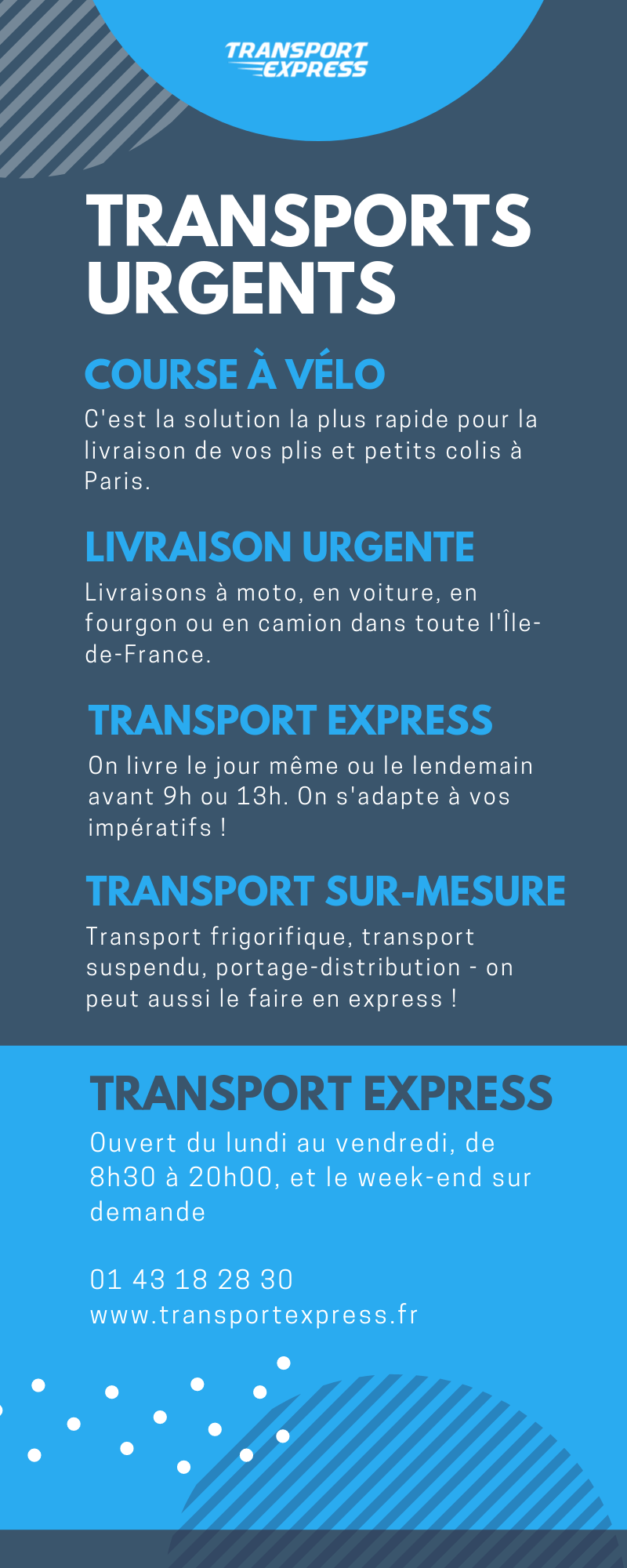 Solutions de transport urgent partout en France